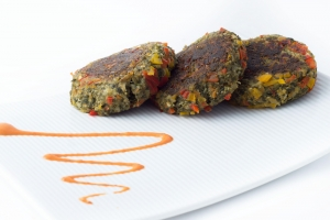 Spinach and Fig Tikki